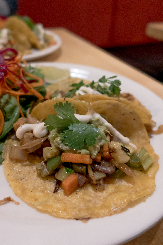 Vegan Jackfruit Tacos from Sage's Cafe located in Salt Lake City, Utah. #vegan