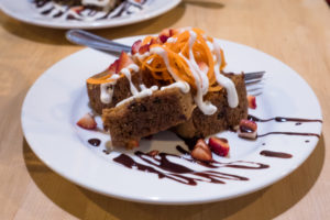 Vegan Carrot Cake from Sage's Cafe located in Salt Lake City.