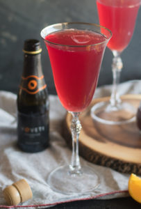 A light, refreshing cocktail made with just 3 ingredients! Perfect for a date night at home!