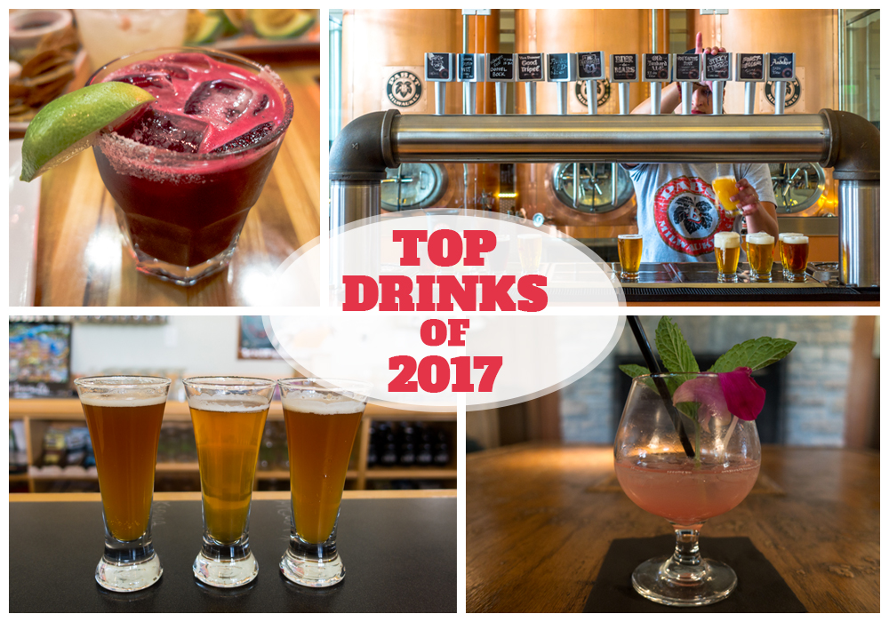 Top Drinks of 2017! A list of the best drinks I had while traveling this year!