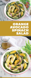 Start the new year off on a healthy note with thisSpinach Orange and Avocado Salad with Guava Dressing!This saladis light, refreshing and a perfect balance of flavors. #salad #vegan
