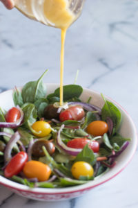 This simple Maple Mustard Salad Dressing is a quick and easy recipe!