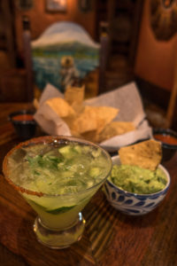 Cucumber margarita is the perfect accompaniment to the chips and guacamole.