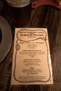 Vegan dining options at Disney's Hoop-de-doo revue. #vegan #disneyworld