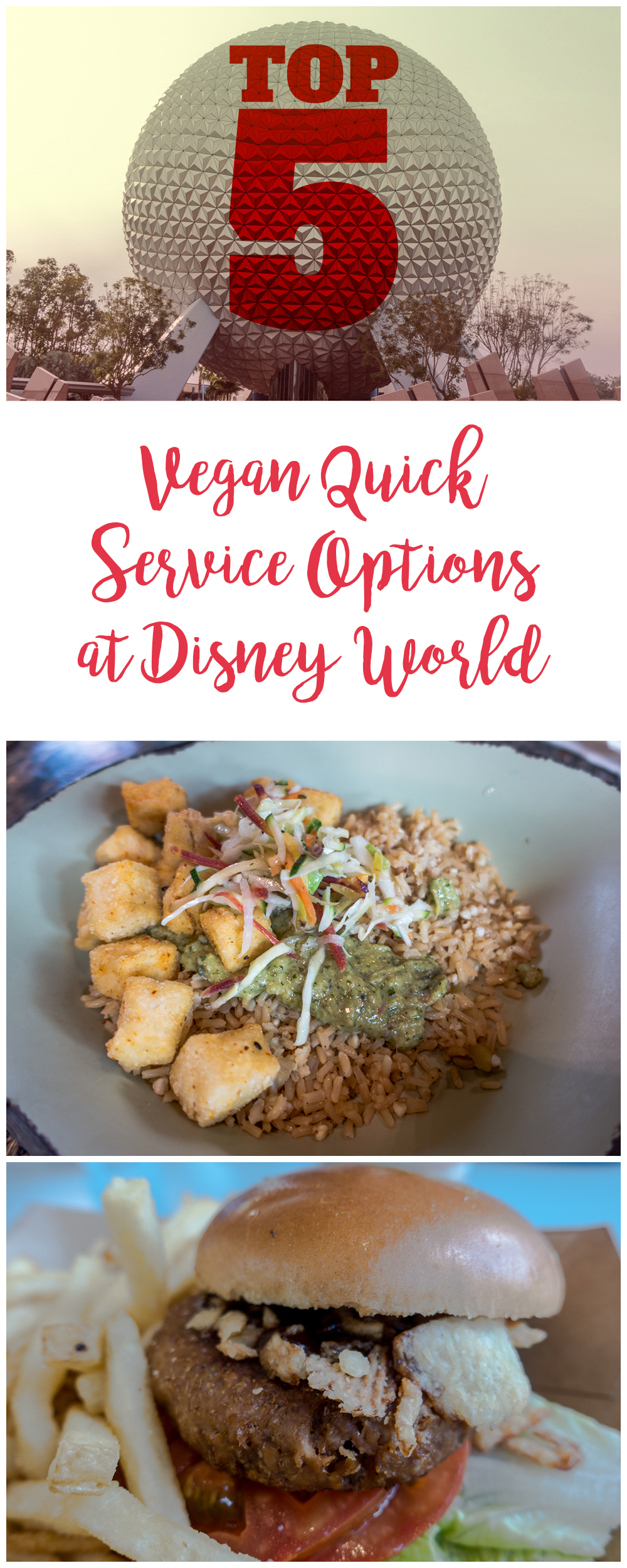 If you are planning a trip to Walt Disney World, check out my top 5 vegan quick service options at Walt Disney World! #vegan #disneyworld