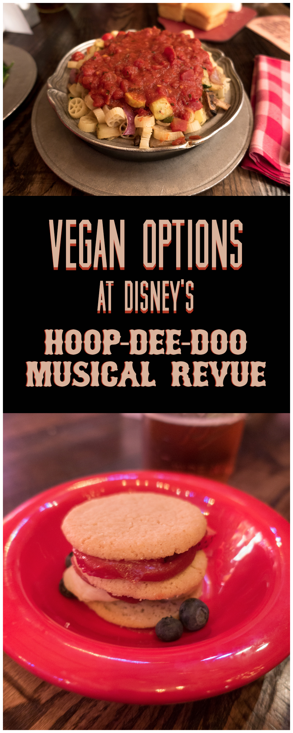 Attending the Hoop-dee-doo Revue at Disney's Wilderness Lodge? Check out the vegan and vegetarian options that they offer! #vegan #disneyworld