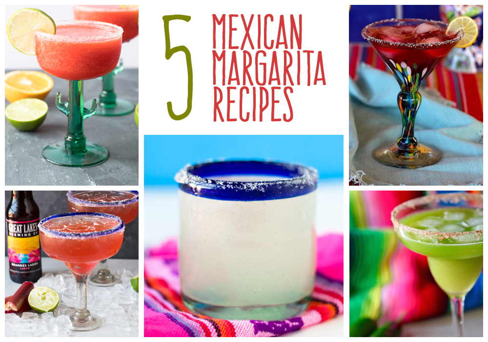These 5 Mexican Margarita Recipes are perfect anytime of year! #margarita #mexican #drink