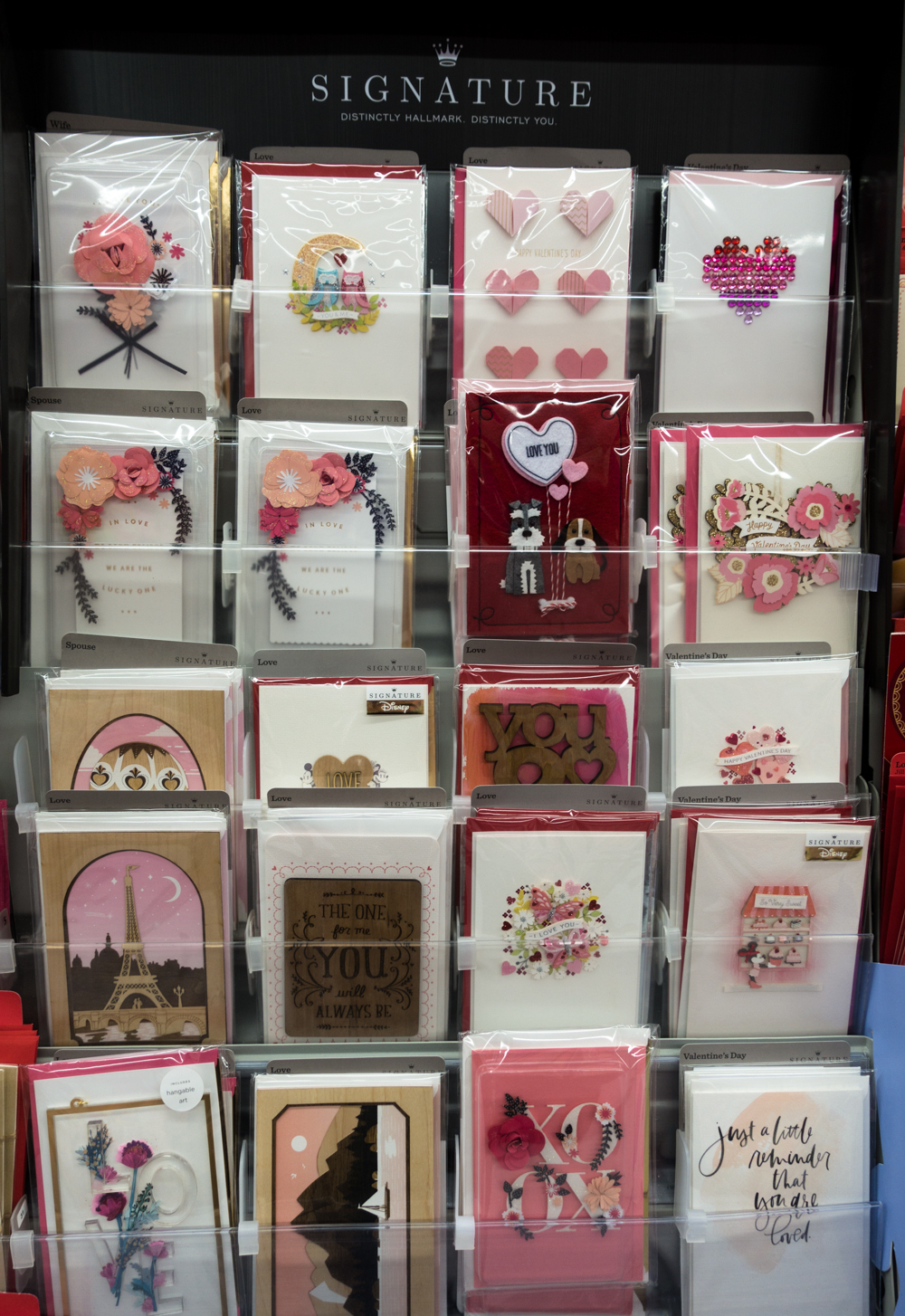 You can find the newest collection of Hallmark Signature Cards for Valentine's Day in the card section of your local Walmart!