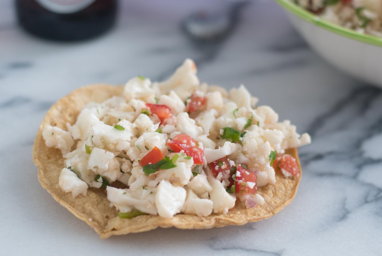 Healthy Mexican Cauliflower Ceviche