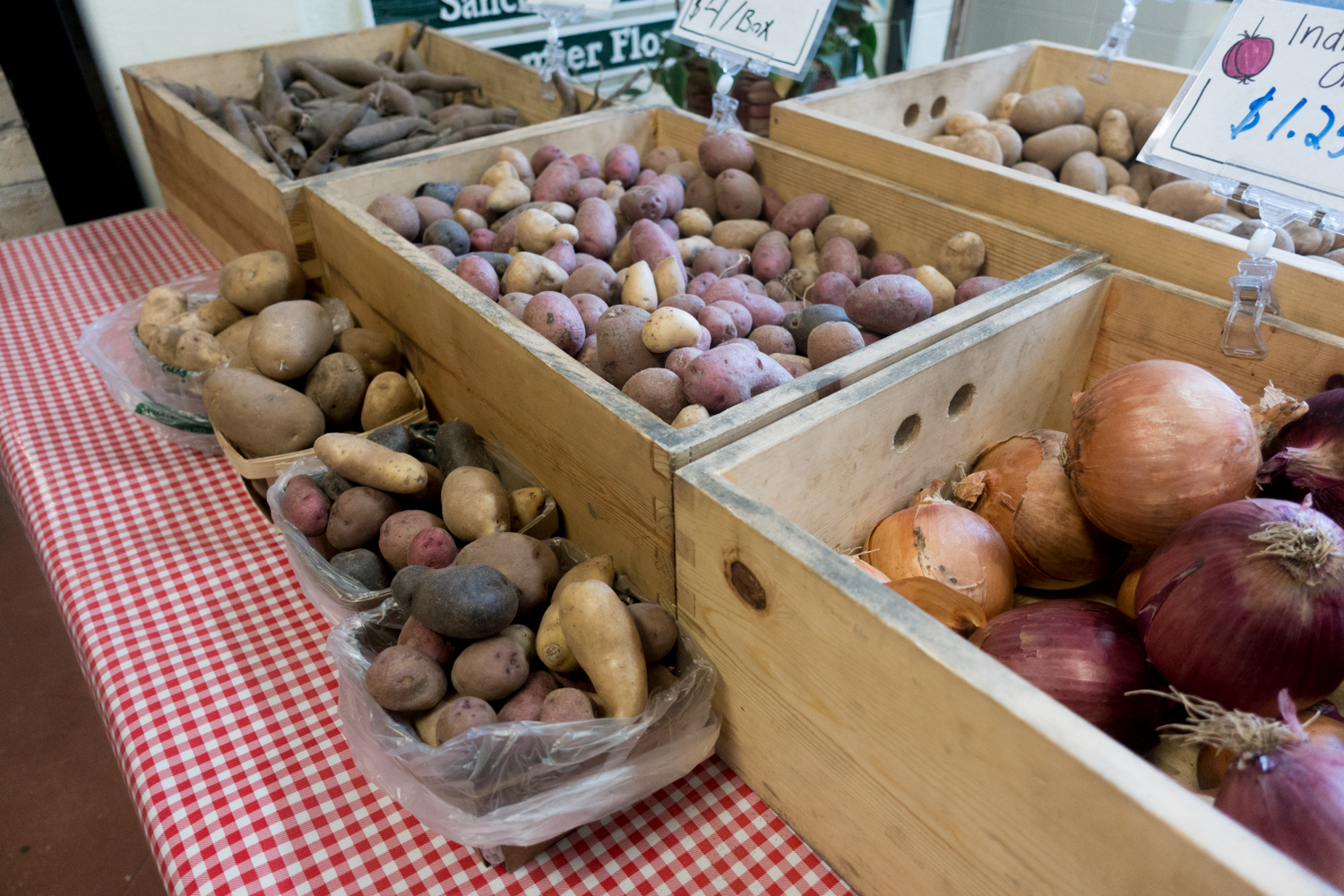 Shop for local produce and products at the indoor farmers market locatedinside theVillage at Grand Traverse Commons. #winter #farmersmarket