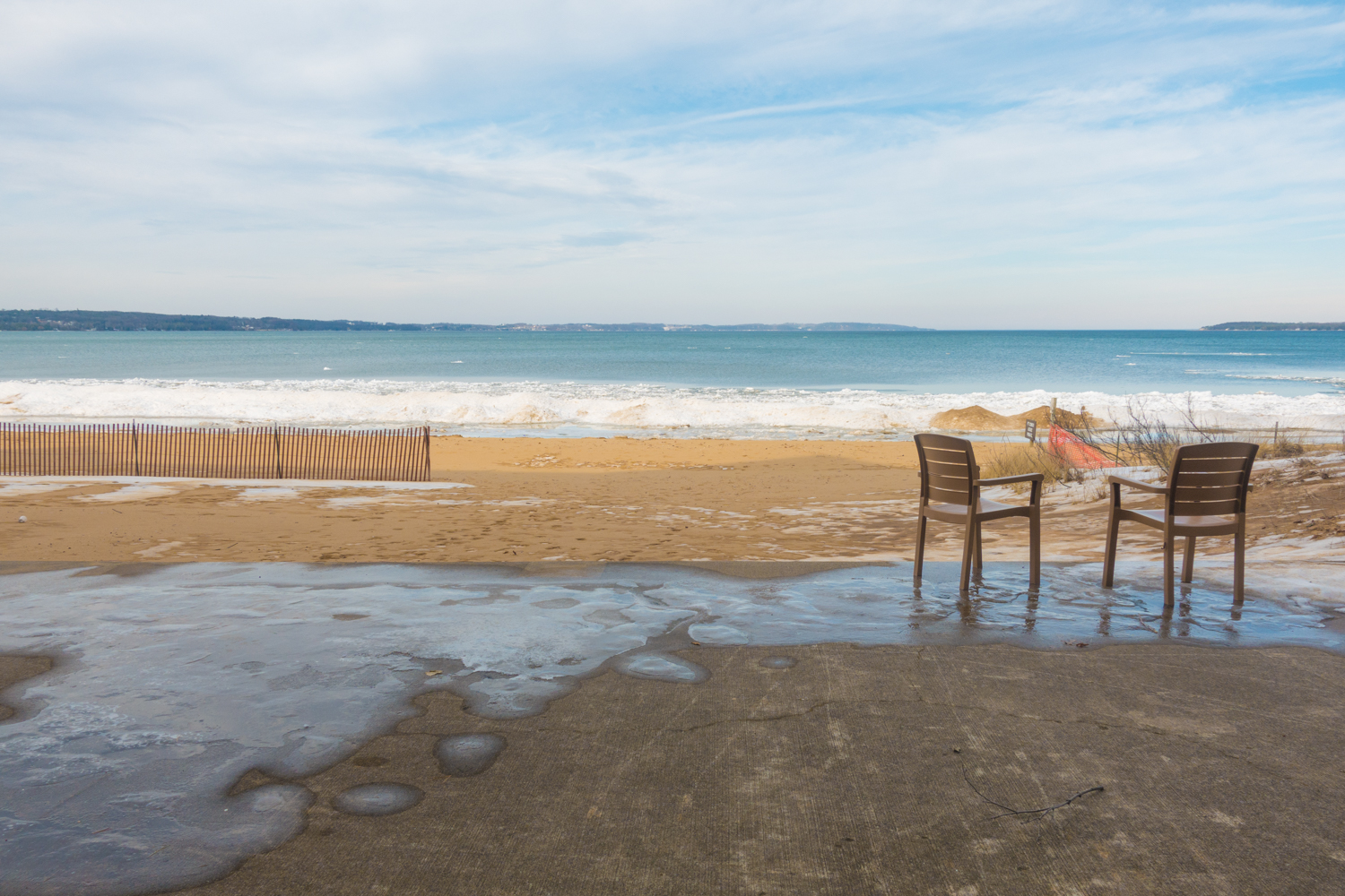 Thing to do in the winter in Traverse City, Michigan.