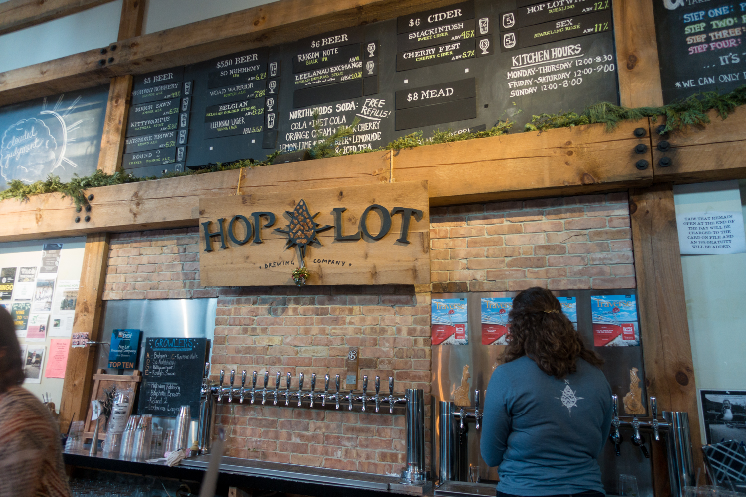 Hop Lot Brewing Company located in Sutton's Bay, Michigan.