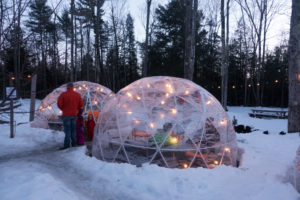 igloos at Hop Lot Brewing, located in Sutton's Bay. #michigan #winter