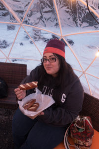 igloos at Hop Lot Brewing, located in Sutton's Bay.
