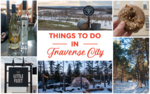 Traverse City Winter Getaway: The ultimate guide on what to see and do during in Traverse City! #travel #michigan