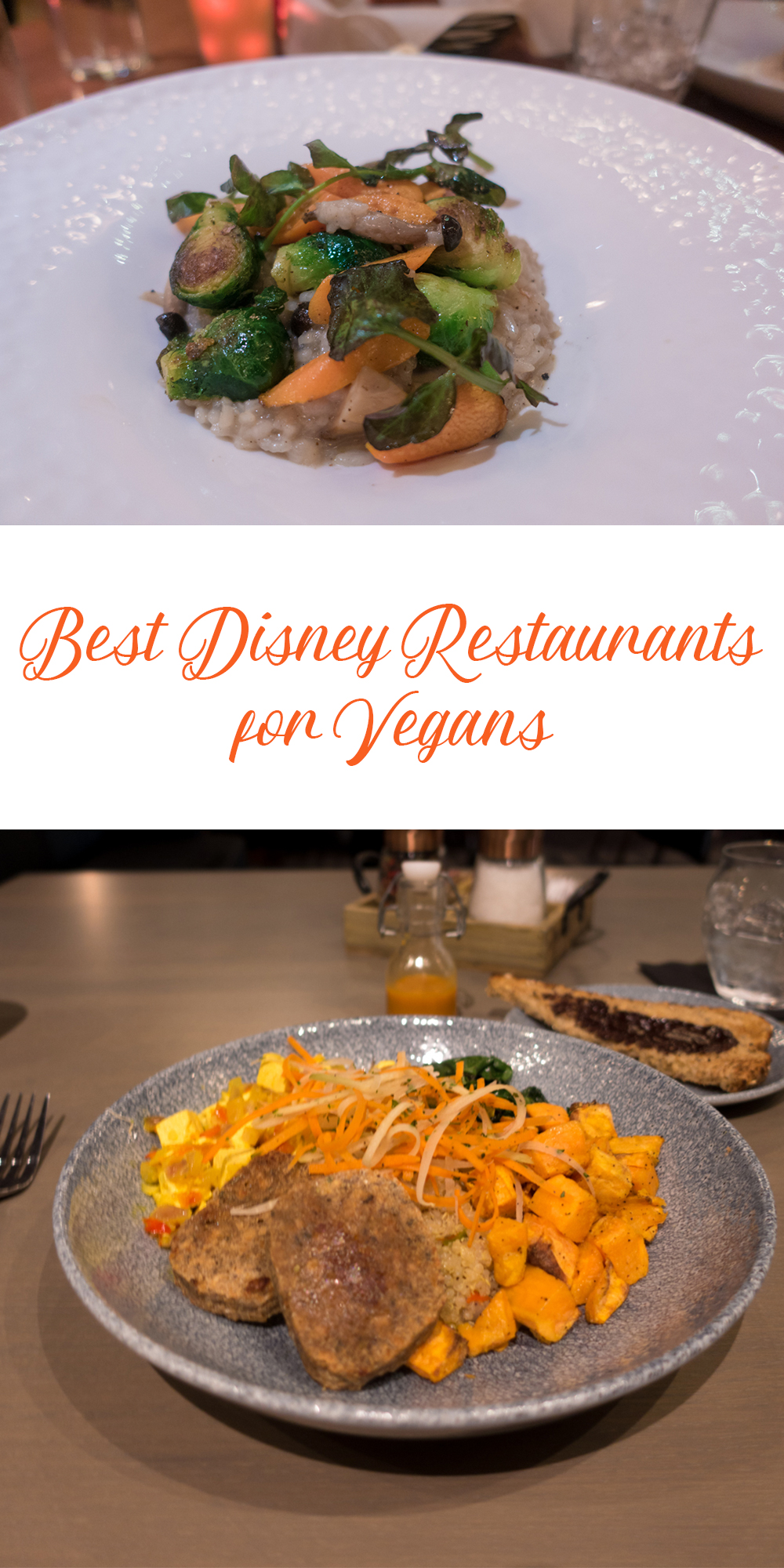 A guide to the Best Disney Restaurants for Vegans. #vegan #disneyworld
