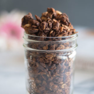 Nutty Chocolate Granola from The Veginner's Cookbook is the perfect breakfast for chocolate lovers!