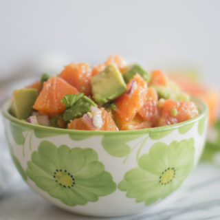 Orange Avocado Salsa is a bright flavorful salsa that's perfect for chip dipping! #Mexican #Salsa