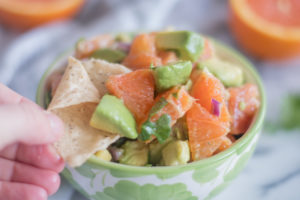 Orange Avocado Salsa is a bright flavorful salsa that's perfect for chip dipping!