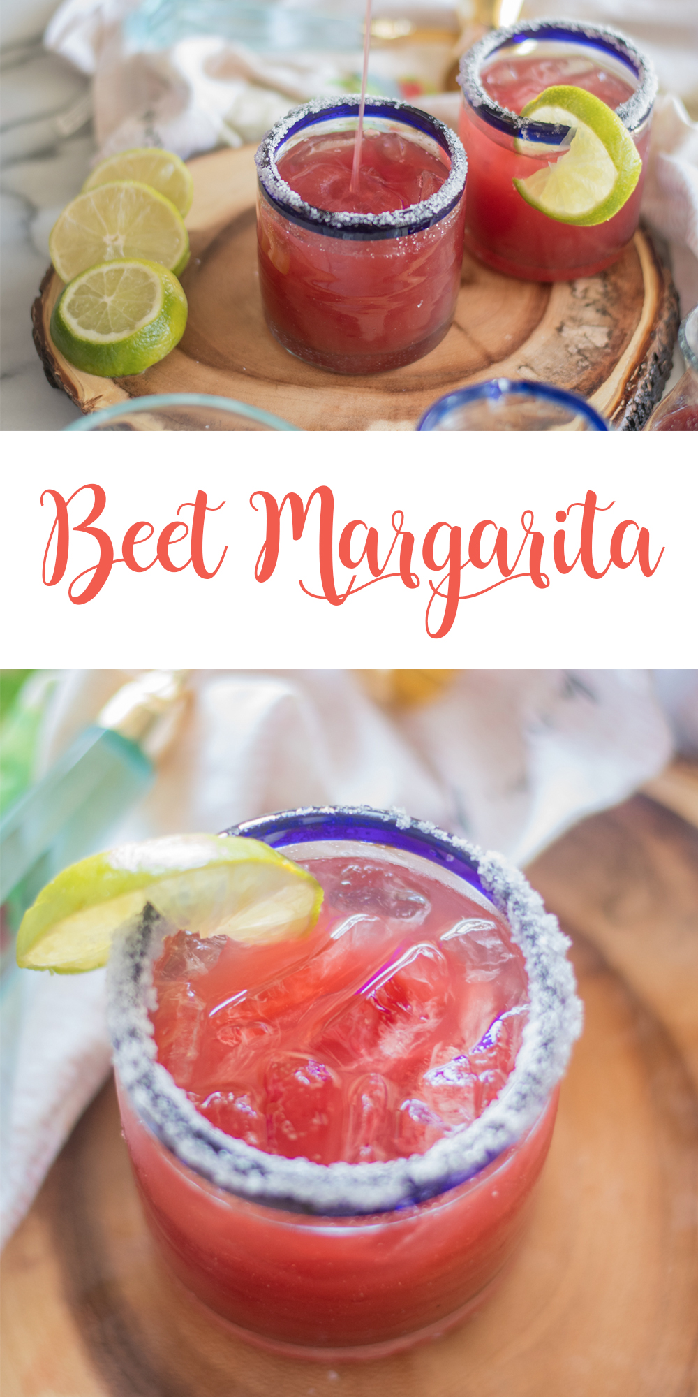 This refreshing Beet Margarita is perfect for your next fiesta! #drink #mexican