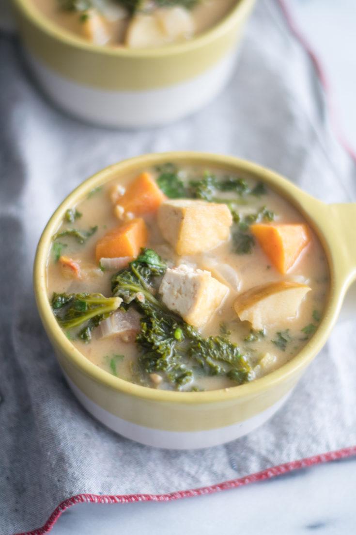 Tofu Sweet Potato and Almond Butter Stew