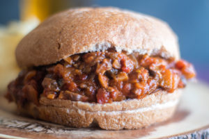 Vegan Mushroom and Eggplant Sloppy Joes are a spin on traditionalsloppy joes.