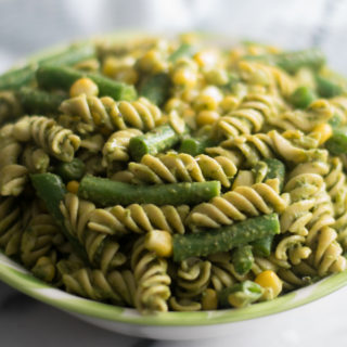 This Easy Vegan Pesto Pasta Salad is perfect for BBQs and potlucks!