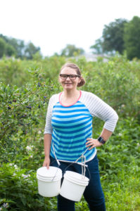 Blueberry picking in Holland, Michigan