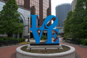 Love by Robert Indiana located in downtown Grand Rapids.