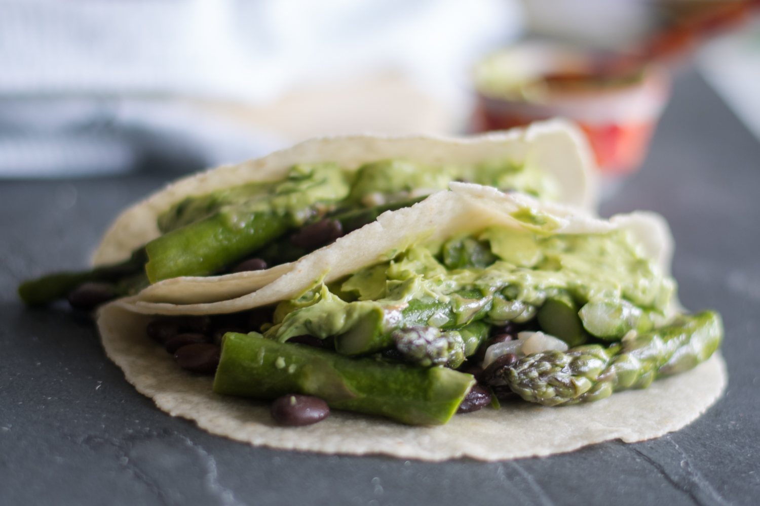 Easy Asparagus and Black Bean Tacos are the perfect taco for spring!