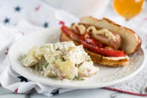 Vegan Dill Potato Salad is perfect for Summer BBQs and picnics!