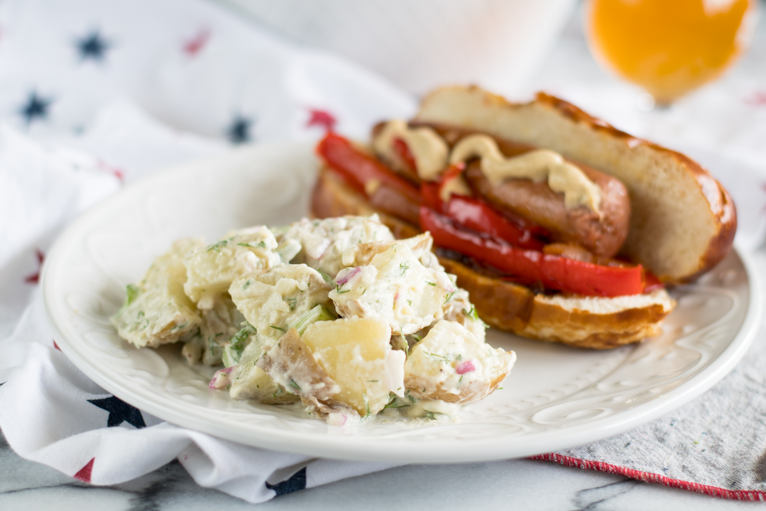Vegan Dill Potato Salad is perfect for Summer BBQs and picnics!