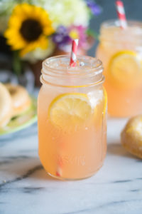 Rhubarb Ice Tea made with lemon ginger tea is perfect for the warmer months!