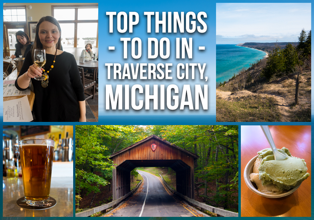 A travel guide on the top things to do in Traverse City, Michigan. #TraverseCity #Michigan #Travel #midwest #summer #fall #wine #beer #hiking #outdoors #lake #beach #lakemichigan #puremichigan