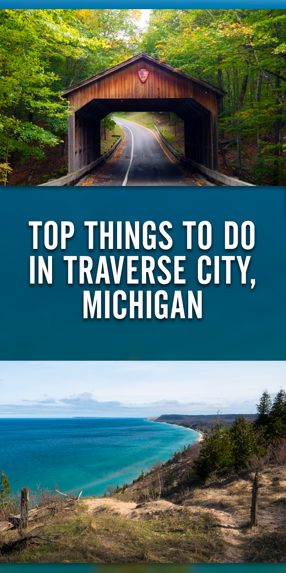 A travel guide on the top things to do in Traverse City, Michigan. #M22 #TraverseCity #Michigan #Fall #travel #trip #PureMichigan #NorhternMichigan #colortour #getaway