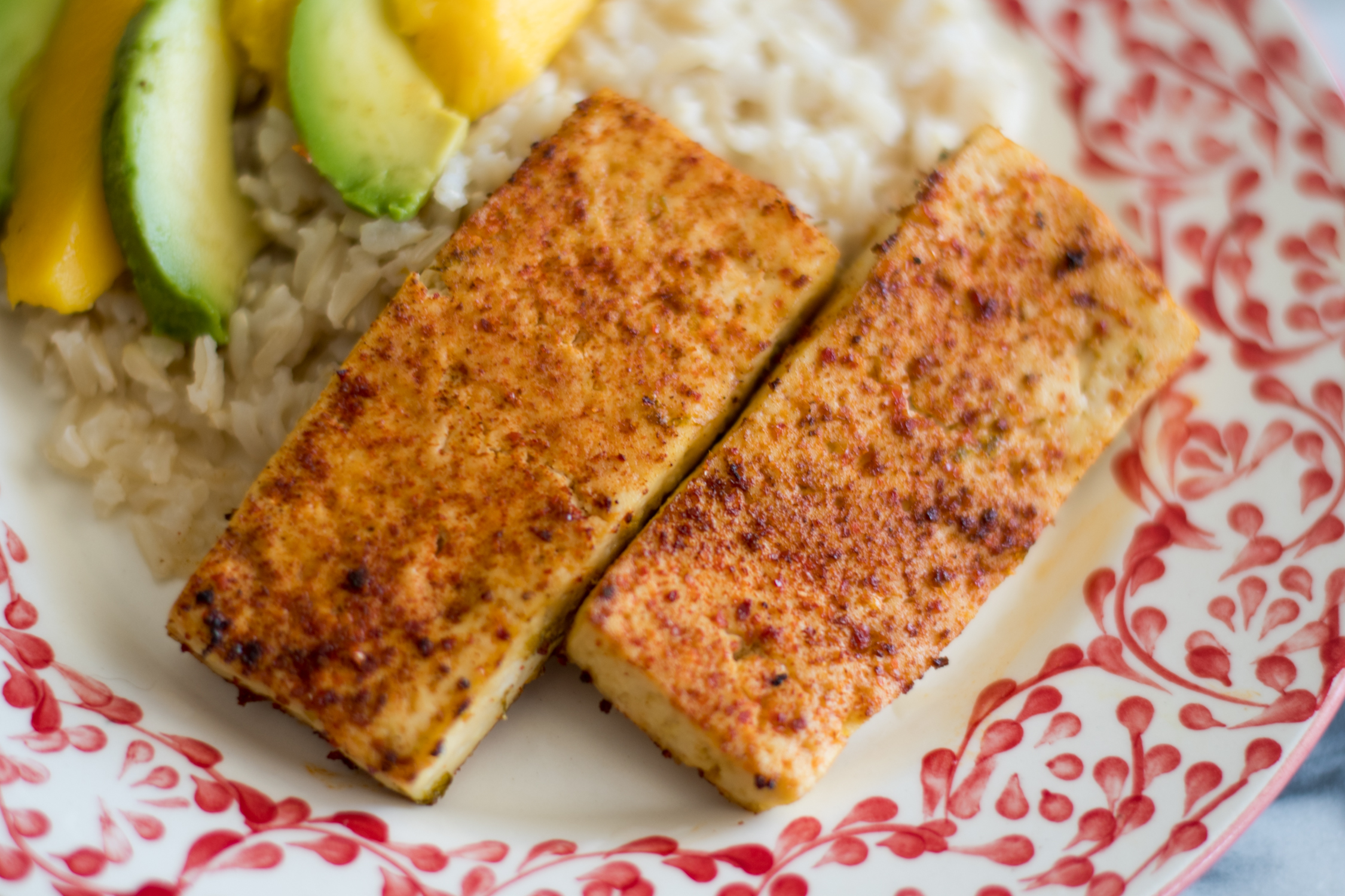 Chile Lime Tofu is a flavorful plant-based protein. Perfect served with rice or tortillas!