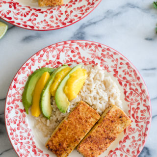 Chile Lime Tofu is bursting with flavorful. It is marinated in a lime marinade and then stopped with a chile lime seasoning. #vegan #tofu #lime #chile #vegetarian #tradersjoes