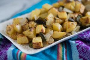 Roasted Breakfast Potatoes are the perfect accompaniment on your breakfast plate! #vegan #breakfast #potatoes #side #glutenfree