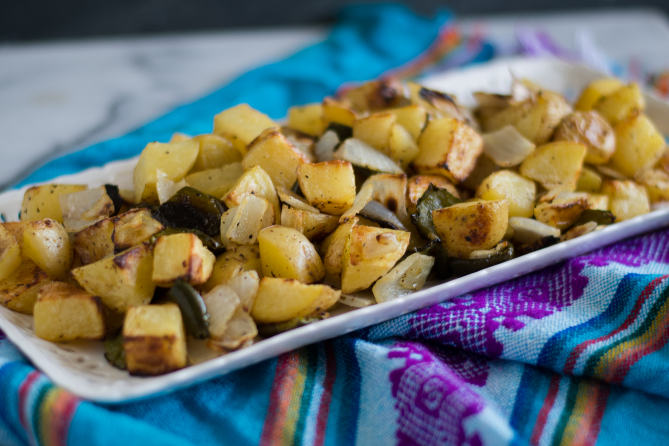 Roasted Breakfast Potatoes are the perfect accompaniment on your breakfast plate! #vegan #breakfast #side #potatoes