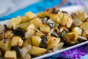 Roasted Breakfast Potatoes are the perfect accompaniment on your breakfast plate! #breakfast #side #potatoes #vegan