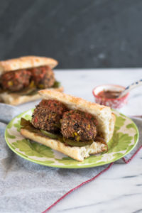 Vegan meatballs made with black beans. Easy to make and delicious! #vegan #sub #dinner #recipe