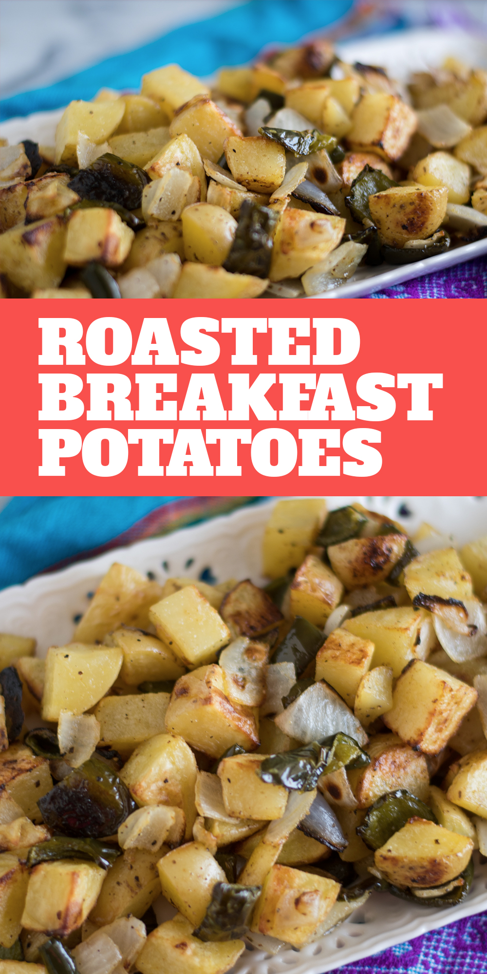 Roasted Breakfast Potatoes are the perfect accompaniment on your breakfast plate! #breakfast #potatoes #brunch #side #easy #vegan #glutenfree