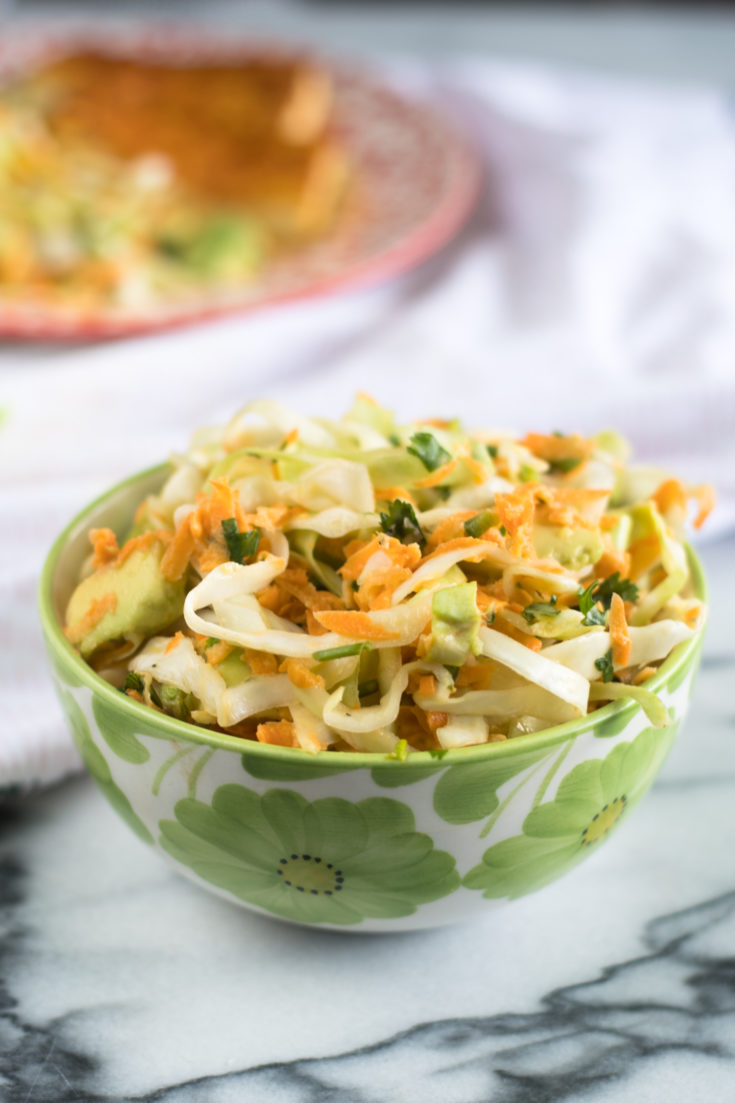 Mexican Cabbage and Avocado Salad