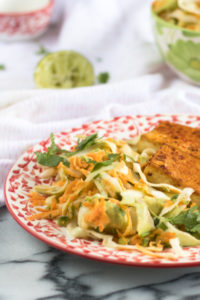 Mexican Cabbage and Avocado Salad makes for a flavorful side dish. #vegan #recipes #salad #glutenfree #Mexican