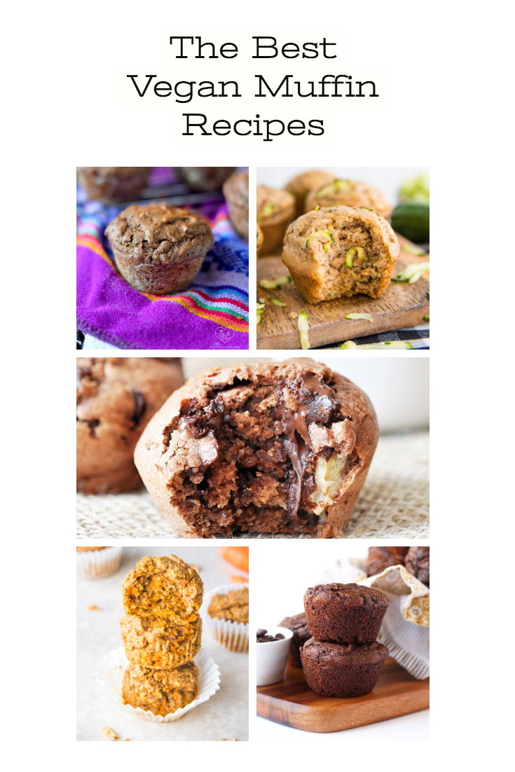 This round-up of the best vegan muffin recipes will inspired you to bake up a batch of muffins! Muffins are the perfect breakfast treat and great for back to school! #vegan #veganrecipes #muffin #recipes #breakfast #dessert #dairyfree #snack #backtoschool #fall #fallrecipes