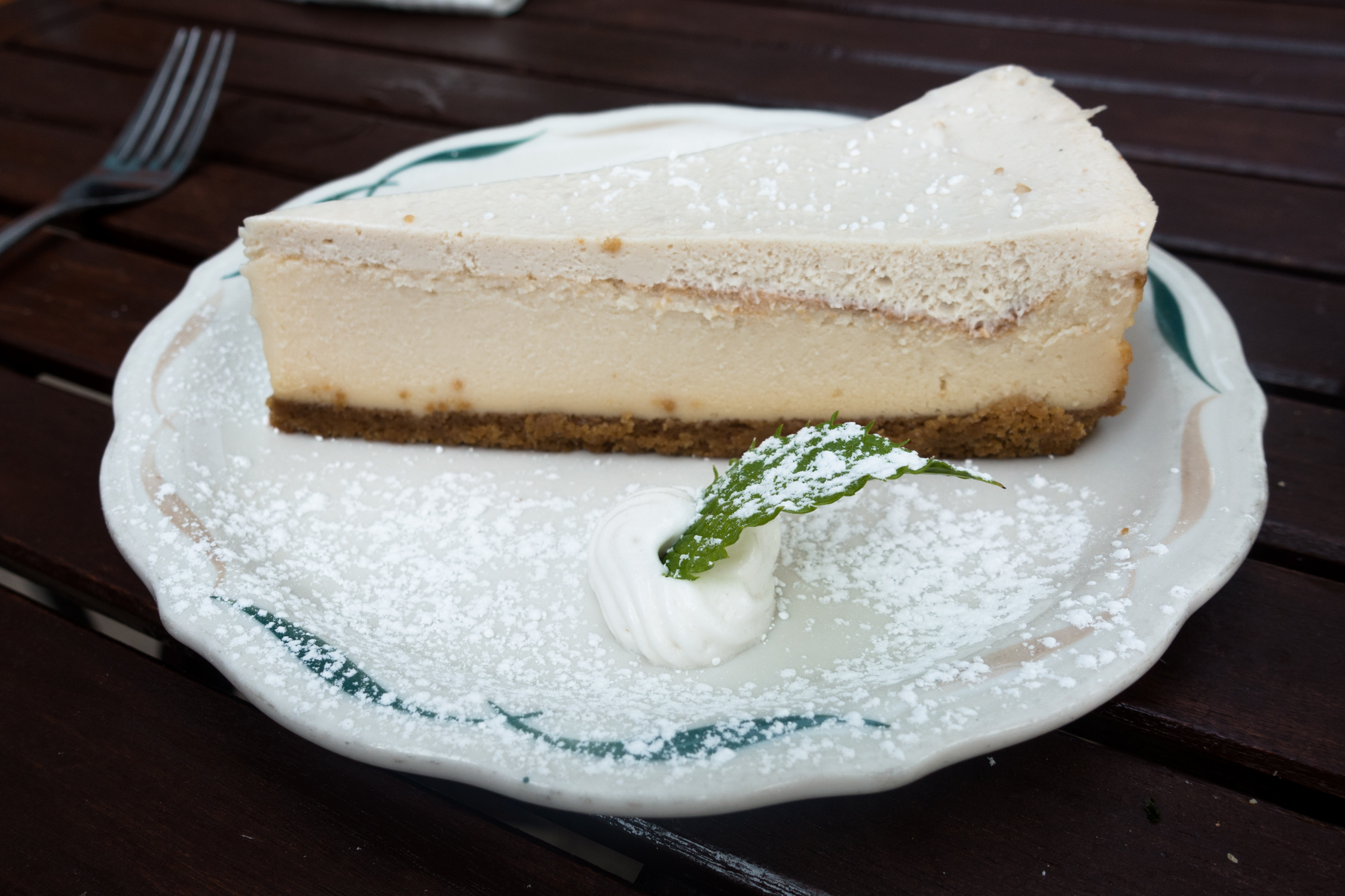 Vegan Cheesecake from The Green Owl Cafe located in Madison, Wisconsin. #vegan #travel #Madison #Wisconsin