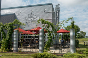 An all vegan restaurant and brewery located.