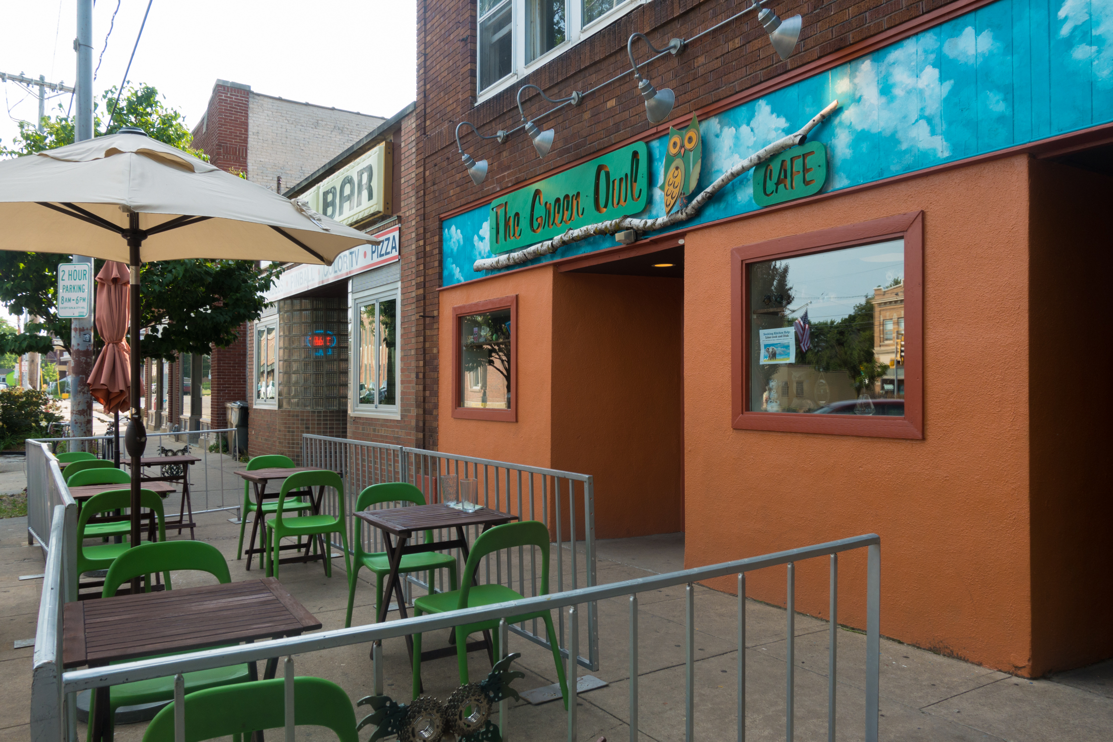 The Green Owl Cafe located in Madison, Wisconsin. #vegan #vegetarian #restaurant #food #Madison #Wisconsin