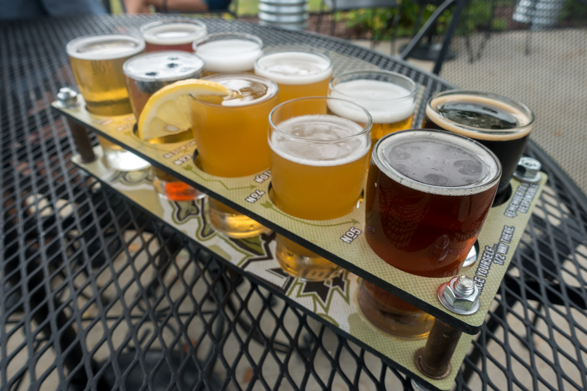Beer Flight at Pig Minds Brewery