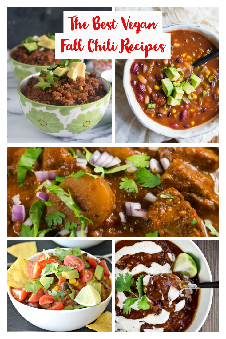 If you are in need of some new chili recipes, this post of amazing vegan recipes will inspire you to try out some new chili recipes! #vegan #recipes #fall #fallrecipes #vegetarian #veganrecipes